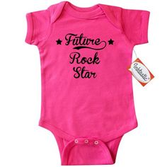 Inktastic Future Rock Star Infant Creeper Baby Bodysuit rocker funny occupations gift one-piece