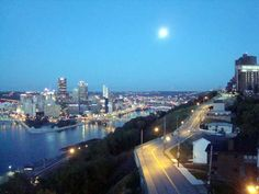 View from a Grandview Towers Condo - Full Moon
