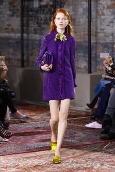 Gucci Resort 2016 - Great Color Combo & Styling Purple & Yellow