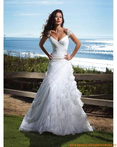 long, white wedding dress