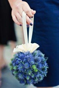 blue wedding flowers