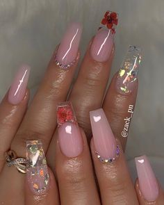 61 Most Popular Coffin Nails Designs 2019 - Coffin Nails - Nageldesign Summer Acrylic Nails, Best Acrylic Nails, Spring Nails, Cute Acrylic Nail Designs, Nail Art Designs, Nails Design, Pin On, Fire Nails, Dream Nails