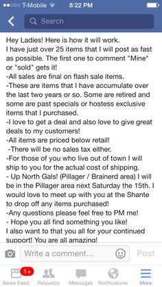 MK flash sale on Facebook idea - the details of the sale