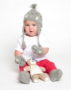 Grey Alpaca Baby Booties, Mittens + Beanie   The Little Market