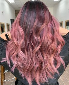 52 Ombre Rainbow Hair Colors To Try ombre rainbow hair colors; coolest hairs color trends in trendy hairstyles and colors women hair colors; Pink Ombre Hair, Brown Ombre Hair, Hair Color Purple, Hair Dye Colors, Cool Hair Color, Dark Pink Hair, Dyed Hair Pink, Pink Hair Streaks, Rose Gold Hair Dye