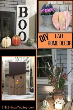 Easy DIY home decor to make your home festive for fall and Halloween. DIY ideas complete with tutorials, or inexpensive purchases if DIY isn't your thing. Decorations for indoors and outdoors. #halloween #falldecor Fall Home Decor, Autumn Home, Diy Home Decor, Diy Halloween Decorations, Halloween Diy, Family Fun Night, Hobbies To Try, Crafts To Do, Fall Crafts