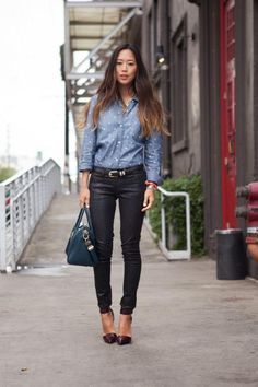 i love jean & leather
