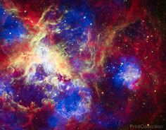 To celebrate its 22nd anniversary in orbit, the Hubble Space Telescope released a dramatic new image of the star-forming region 30 Doradus, also known as the Tarantula Nebula because its glowing filam