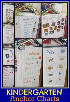 kindergarten anchor charts - Yahoo Search Results