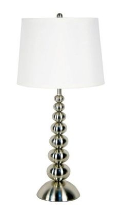 Ashley deidra table lamp in houston fashion furniture pinterest special offers kenroy home 20116bs pack of 2 baubles 1 light lamp set brushed steel mozeypictures Choice Image