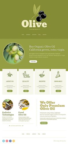 Joomla #template // Regular price: $75 // Unique price: $4500 // Sources available: .PSD, .PHP #Food #Drink #Joomla #tablet #smartphone #responsive #olive