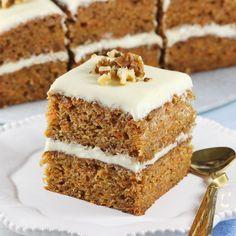 Ciasto marchewkowe | AniaGotuje.pl Sweet Recipes, Cake Recipes, Healthy Snacks, Healthy Recipes, Polish Recipes, Food Cakes, Pavlova, Vanilla Cake, Tiramisu