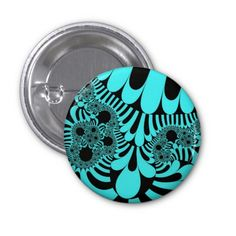 Customizable Teal and Black Mod Small Round Button on sale at www.zazzle.com/wonderart* Click on the picture to take you directly to the product for purchase and info.