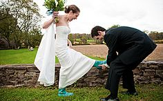 woolverton rubber boots for the bride!