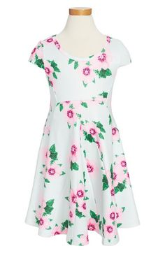 Truly Me Floral Knit Dress (Toddler Girls, Little Girls & Big Girls) available at #Nordstrom