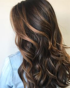 Balayage caramel brown hair #brownhair #balayage