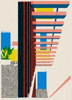 Monocle Hayashi - print inspired illustration