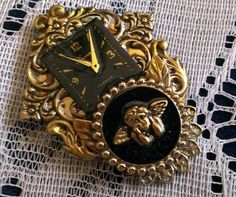Cherub Pin Collage Brooch in a Victorian Style by FromABygoneTime