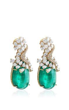 Farah Khan Zambian Emerald and Diamond Earrings by Farah Khan Fine Jewelry 2014 . - Farah Khan Zambian Emerald and Diamond Earrings by Farah Khan Fine Jewelry 2014 (=) - Jewelry 2014, Jewelry Gifts, Jewelry Box, Jewelry Accessories, Fine Jewelry, Jewelry Design, Jewelry Stores, Etsy Jewelry, Jewelry Ideas