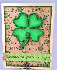 St. Patricks day card  used St. patrick's day set  Gabrielle