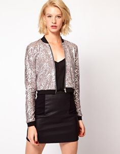 ASOS Bomber in Metallic Rose #ASOSsale