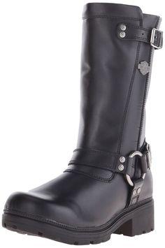 Harley-Davidson Women's Derringer Harness Boot Black 7 B(M) US #HarleyDavidson #Black