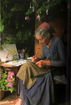 Keep active! Continue in artwork and writing,walking and planting! Tasha Tudor,...Glorious example!
