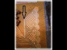 lamacaterine.com Con este video termino la serie de como montar los pares para realizar un pañuelo de encaje de bolillos que incluya onda, araña de tres pata...