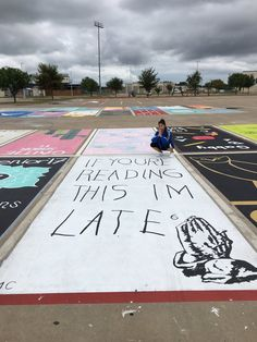 See how high school seniors across the country are painting their parking spots.