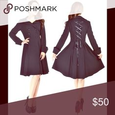 Gothic Steampunk Black Corset Jacket Size S NWOT Look cute this fall in this black jacket by Chic Star! It features a corset on the back for an adjusted fit. The jacket has no pockets, sadly. It is new without tags and size small. Measurements are available upon request. Jackets & Coats Trench Coats