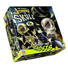 Have you seen the commercial for this new Johnny the Skull ghost-shooting game? It looks really fun!  See Johnny the Skull and the Two Player Game here  So Johnny comes with an electronic gun and then he projects images of ghosts on the walls - you shoot the ghosts and win that way. It's almost like laser tag!  You want to be in a darkened room and kind of a smaller room so the ghosts can be projected easily and seen easily on the walls