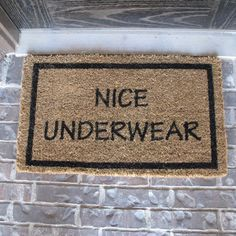 Very Nice Atitude. Cool Doormat Decor Ideas ...