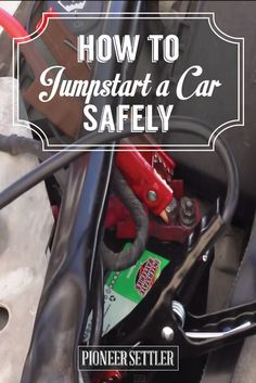 How To Use Jumper Cables And Jumpstart Your Car In a Sticky Situation   Self-sufficiency and Homesteading Skills by Pioneer Settler at http://pioneersettler.com/jumpstart-car-safely-homesteading-skills/