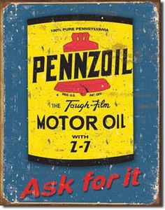 Pennzoil Motor Oil Tin Sign Measures High x Wide