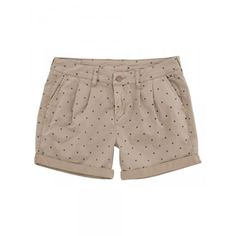 Beige shorts with blue micro pois SUN68 Woman SS15 #SUN68 #SS15 #woman #shorts