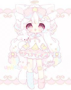 by uniicake on DeviantArt Manga Kawaii, Kawaii Chibi, Kawaii Art, Dibujos Anime Chibi, Cute Anime Chibi, Cute Wallpaper Backgrounds, Cute Wallpapers, Pink Drawing, Kawaii Illustration