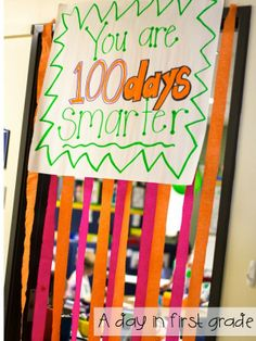 A day in first grade: Happy 100th Day!!  FANTASTIC ideas for 100th day of school!