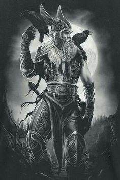 odin tattoo odin tattoo - odin tattoo vikings - odin tattoo sleeve - odin tattoo symbols - odin tattoo design - odin tattoo vikings norse mythology - odin tattoo for women - odin tattoo mythology Art Viking, Viking Symbols, Viking Life, Viking Ship, Viking Woman, Fantasy Kunst, Fantasy Art, Tattoo Odin, Valkyrie Tattoo
