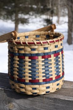 Cherokee Storage Basket by BlueFrogBasketry on Etsy, $40.00