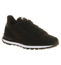 Nike Internationalist Black White - Hers trainers