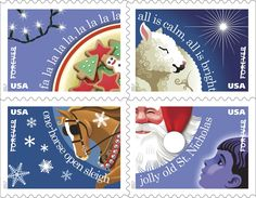 Christmas Carols Forever Stamps