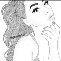 62 ideas baby girl drawing realistic for 2019 Tumblr Girl Drawing, Tumblr Sketches, Tumblr Art, Drawing Sketches, Tumblr Outline, Outline Art, Outline Drawings, Cute Drawings, Girl Drawings