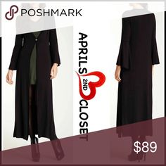 """⭐⭐ Long Tunic Cardigan Maxi Duster Coat 💟NEW WITH TAGS💟  RETAIL PRICE: $118  SIZING-Made in the USA, 1X = 14W - 16W Long Tunic Cardigan Maxi Duster Coat   * V-neck   * Front button closure   * 3/4 Long bell sleeves   * Swing style    * Side slits   * Approx 52"""" long   Fabric: 95% polyester, 5% spandex Color: Cream Item#   SEARCH WORDS # slouchy oversized boyfriend loose knit Cardi wrap jacket utility   🚫No Trades🚫 ✅ Offers considered via the offer button only✅ 24/7 Comfort Apparel Tops…"""