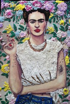 Frida Kahlo T-shirt WEARABLE ART Painting 3d No Quotes Fab Ceraolo portrait - Quortshirts