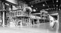 Papiermaschinen in Biberist