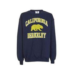 Berkley Bears Sweatshirt by Tee & Cake (365 SEK) ❤ liked on Polyvore featuring tops, hoodies, sweatshirts, navy blue, navy top, blue print top, oversized sweatshirt, bears sweatshirt and blue top
