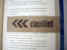 magnetic bookmark laminated bookmark classified by JDooreCreations