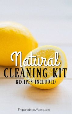 Create a DIY Natural Cleaning kit. Natural cleaners work just as well as chemical cleaners, but they are better for your health and easier on your pocketbook | PreparednessMama.com