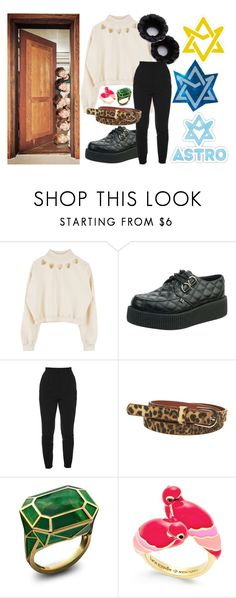 """""""Astro"""" by monochromemoses ❤ liked on Polyvore featuring Alexander McQueen, Wet Seal, Kate Spade, kpop and Astro"""