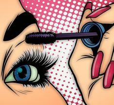 Lipstick Photograph - Face paint by Mark J Dunn Bd Pop Art, Pop Art Girl, Pop Art Face, Vintage Pop Art, Retro Art, Desenho Pop Art, Farmasi Cosmetics, Pop Art Images, Pop Art Drawing